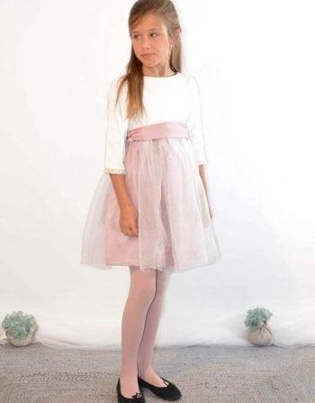 Vestido niña Rosana rosa - coordinanos