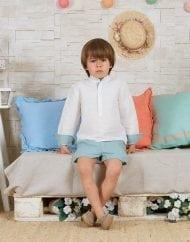 camisa marfil y baltico