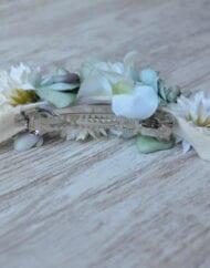 Pasador flor seca verde y marifl 2